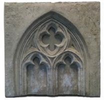 Gothic folly single half wall panel